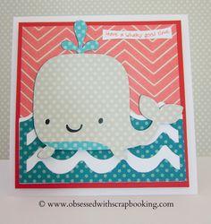 Whale Cricut card. (Create a Critter)