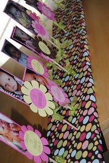 birthday time line--great idea for a high school graduation party or 1st brithday