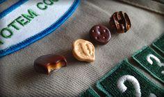 Girl Scout Cookie Swap Pin Set - Tagalong, Samoas, Thin Mint, Trefoil. $15.00, via Etsy.
