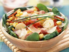 Salad Sauce, Pasta Salad, Fresco, Palmiers, Menu, Everyday Food, Flan, Cantaloupe, Potato Salad