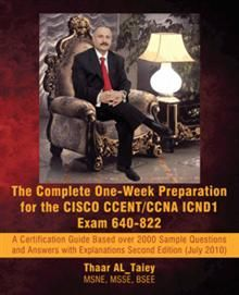 The Complete One-Week Preparation for the CISCO CCENT/CCNA ICND1 Exam 640-822 is an intensive, one-week study guide that provides students with all the knowledge they need to excel on the CCNA/CCENT exam. This certification guide is designed to make even the most difficult internetworking concepts easy to understand.