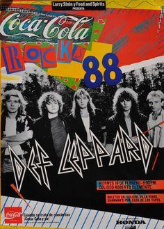 Def Leppard - 1988 Concert Poster