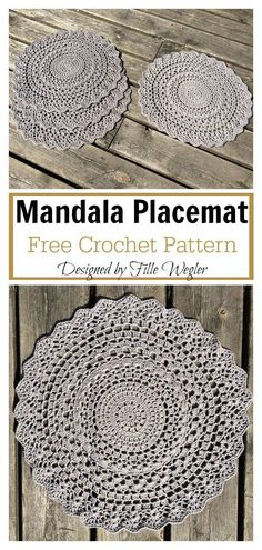 crochet mandala pattern If you are looking for the perfect housewarming gift or just a nice way to personalize your table, the Mandala Placemat Free Crochet Pattern is for you. Crochet Placemat Patterns, Crochet Table Runner Pattern, Crochet Mandala Pattern, Crochet Doilies, Crochet Rugs, Free Doily Patterns, Crochet Table Mat, Crochet Coaster, Modern Crochet Patterns