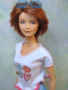 Barbie Doll Repaint Fashionista ooak Custom by Fantasydolls