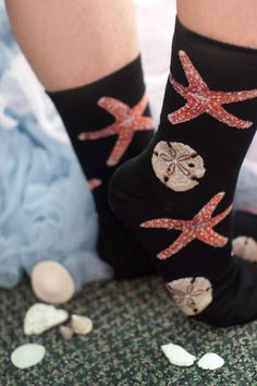 Starfish Crew Socks - Sock Dreams