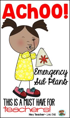 Emergency Sub Plans: Teachers, if you stress about being absent and need last minute lesson plans for a substitute, this is just what you need!  You can print the activities, make copies, add  your daily routines & general substitute information and your sub tub is done! |Kindergarten|1st grade|2nd grade|First|Second|