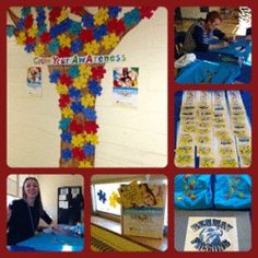 Benway School in Wayne, NJ  grows awareness with this unique autism awareness bulletin board.
