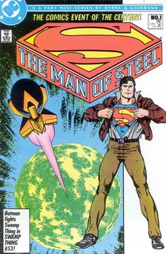 Man of Steel #1-6 covers by John Byrne, Dick Giordano & Tom...
