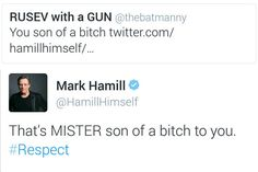 When he demanded to be called by his proper title.   15 Times Mark Hamill Was The Fandom Dad We've Always Needed
