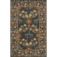 Poeme Wool Hand Tufted Blue Area Rug by Jaipur Rugs 9'x12' $1477.