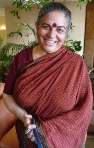 Vandana Shiva, human rights activist that brought attention to the current global agricultural crisis.