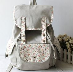 $27.99 Pastorale Style Floral Print Flap Backpack