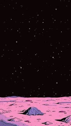space wallpaper (the moon is pink)