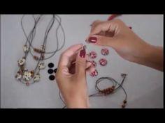 Passo a Passo de artesanato com Botões Forrados (Tiara, Colar, Anel, Pul...