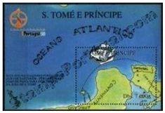 Selos - Expo 98 - Bloco de S. Tomé e Principe (Navegação). - 1998 - S. Tomé e Principe - Emissão alusiva à Expo 98 de Lisboa