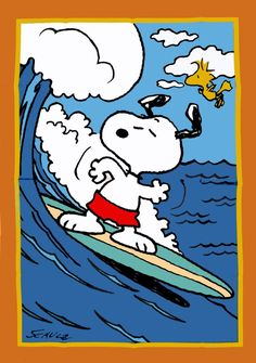 *SNOOPY SURFER Flag - RARE!