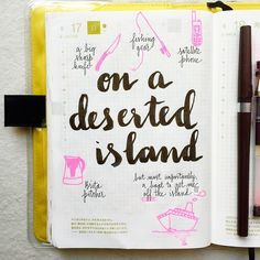 Day 15 of the #listersgottalist challenge: if I could only have five things on a deserted island. I'm not the outdoorsy type, so this would be one of my worst nightmares #Hobonichi #journali...