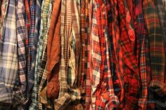 Grunge FLANNEL Distressed 90s Vintage Hipster by TheBeardedBee