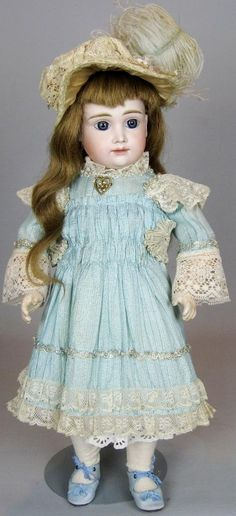 Rare AT-Type Kestner German Bisque Head Closed Mouth Doll