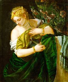 Lucretia by Paolo Veronese  c. 1585  oil on canvas  Kunsthistorisches Museum