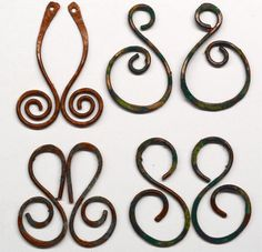 Hand Forged Copper Earring Components Set of by SunStones on Etsy