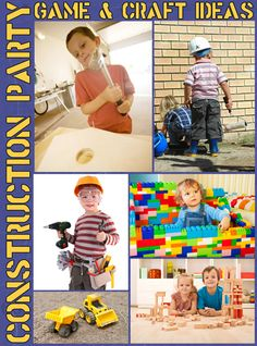 Loads of Construction Party game and craft ideas.