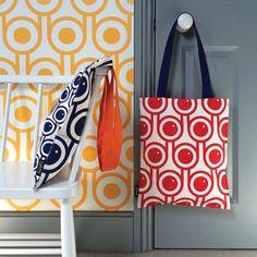Hokolo screen printed cotton canvas tote bag