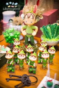 Peter Pan birthday party favors! See more party planning ideas at CatchMyParty.com!