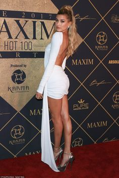 All hail Hailey: Hailey Baldwin hit the red carpet at the Maxim Hot 100 party on Saturday, the magazine named her the World's Sexiest Woman in their June/July 2017 issue