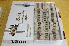 Stamp Lot 1300 Cancelled Stamps - Same Stamps Bundled Together