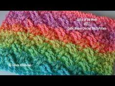 Stitch of the Week #237 Celtic Weave Crochet Pattern - YouTube