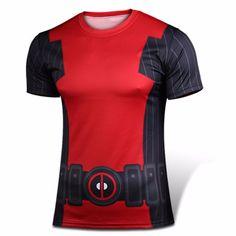 Marvel X-Men Halloween Cosplay Costume Movie Deadpool Mens T-shirt Sports Fitness Jersey & Face Mask T Shirt Sport, Love T Shirt, Shirt Men, Punisher, Men Halloween, Halloween Cosplay, Captain America, Deadpool T Shirt, Sons