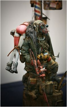 Carry everything you own. - - Post-Apocalyptic Dolls by Yeon Guun Jeong SO AWESOME!!!