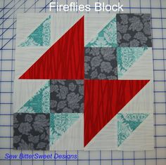 Sew.Happy.Quilt Block 6 – Fireflies Tutorial - another tutorial from @Melissa Dunworth blog.sewbittersweetdesigns