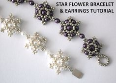 Tutorial: Star Flower Bracelet & Earrings - Bead Weaving Tutorial, Personal Or Commercial Use - ETSY - 5,00 EUR - CLAIR RIGBY (Obstinate Pursuit)
