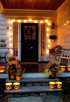 A well lit house keeps everyone safe.  See more party and Halloween safety tips at one-stop-party-ideas.com.
