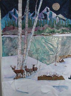 stunning landscape art quilt