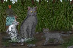 Graystripe, Featherkit and Stormkit