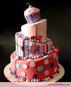 baby diva 1st birthday cakes | 憧れのデコレーションケーキのアイデアと参考写真 ...