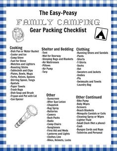 279 best camping checklists images in 2018 camping ideas camping
