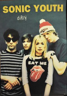 #style from the '90s: Sonic Youth. #grunge? Kim Gordon is a huge influence on my wardrobe. #music #kimgordon