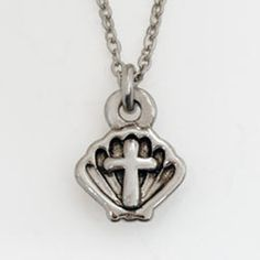 Cross Necklace - Baptism Shell on SonGear.com - Christian Shirts, Jewelry