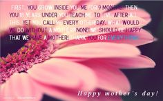Happy Mother's Day for everywhere and everymother...Also, for those who are above the clouds! :'((