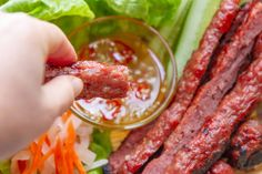 Vietnamese Grilled Pork Sausage (Nem Nuong) — Vietnamese Home Cooking Recipes Vietnamese Fish Cakes Recipe, Vietnamese Sausage, Vietnamese Grilled Pork, Grilling Recipes, Pork Recipes, Asian Recipes, Cooking Recipes, Asian Foods, Kitchens