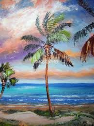 Image result for large palm tree paintings