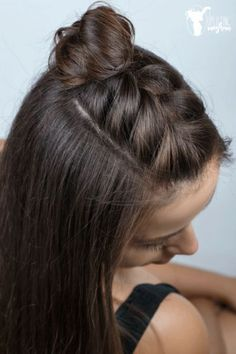 quick hairstyles for long hair, dark brown hair color, half . - makeup secrets - quick hairstyles for long hair, hair color dark brown, half … brown color - Half Braided Hairstyles, Fast Hairstyles, Braided Hairstyles Tutorials, Summer Hairstyles, Braided Hair Tutorials, Dark Brown Hairstyles, Short Hair Hairdos, French Hairstyles, Super Easy Hairstyles