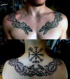 Viking Jormungand Tattoo was one of the most famous Viking Tattoos. The Viking Jormungand Tattoo somehow reflected the Ouroboros Tattoo representing the infinite circle of life and death. Back Tattoos, Future Tattoos, Body Art Tattoos, New Tattoos, Small Tattoos, Sleeve Tattoos, Tattoos For Guys, Tatoos, Collar Tattoo