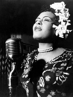 Jazz and Blues Singer Billie Holiday (1915-1959) in the 40's Photo