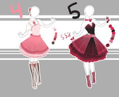 .::Adoptable Collection 12(1-2, 4-5 OPEN)::. by Scarlett-Knight.deviantart.com on @DeviantArt