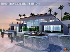 Sirintra Modern design house by autaki - Sims 3 Downloads CC Caboodle